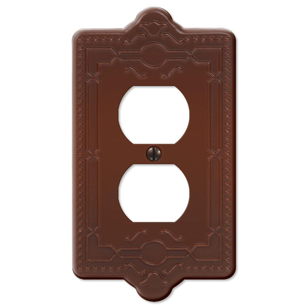 Creative Accents Steel 1 Duplex Wall Plate - Rust