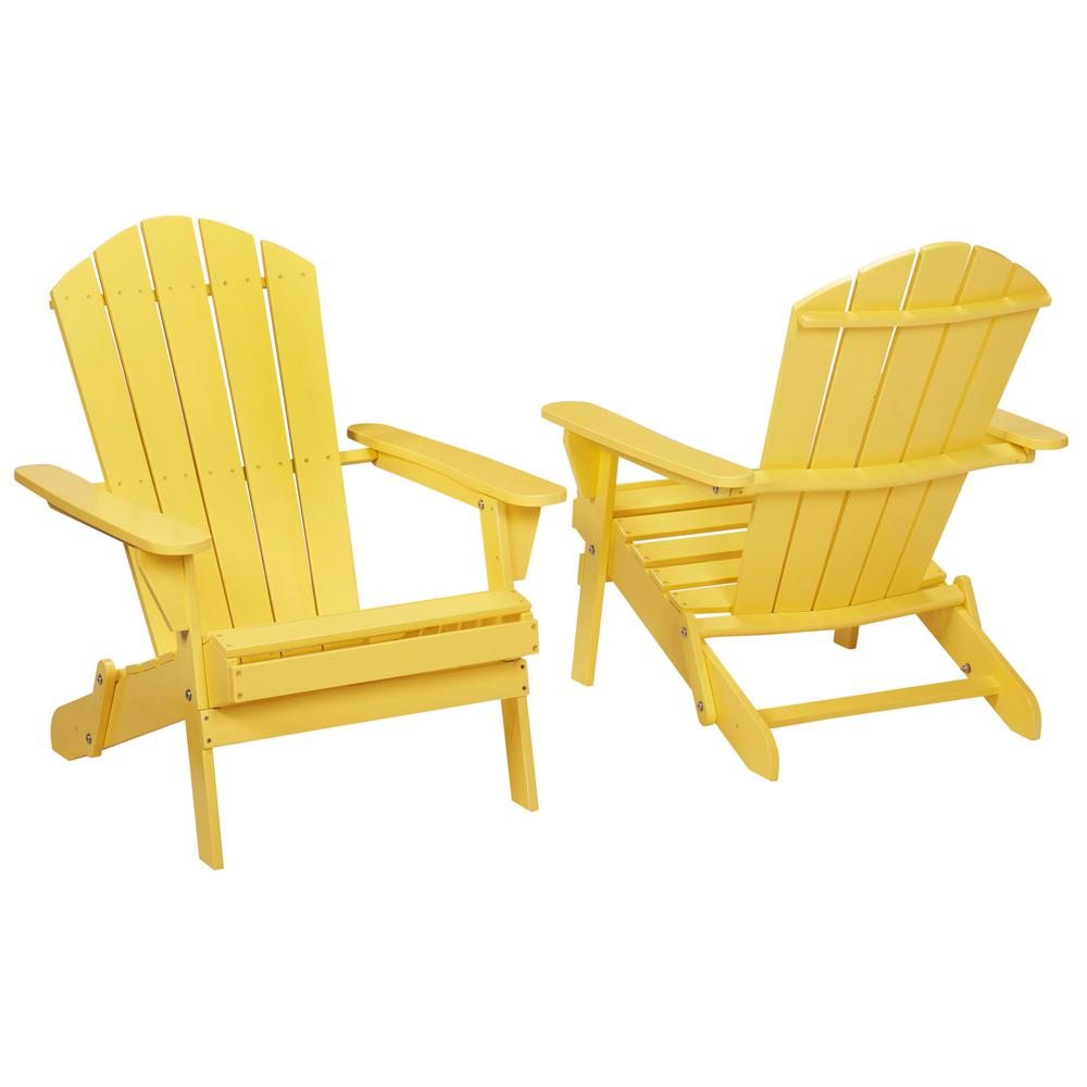Plastic patio chairs home depot - Buttercup Folding Outdoor Adirondack Chair 2 Pack