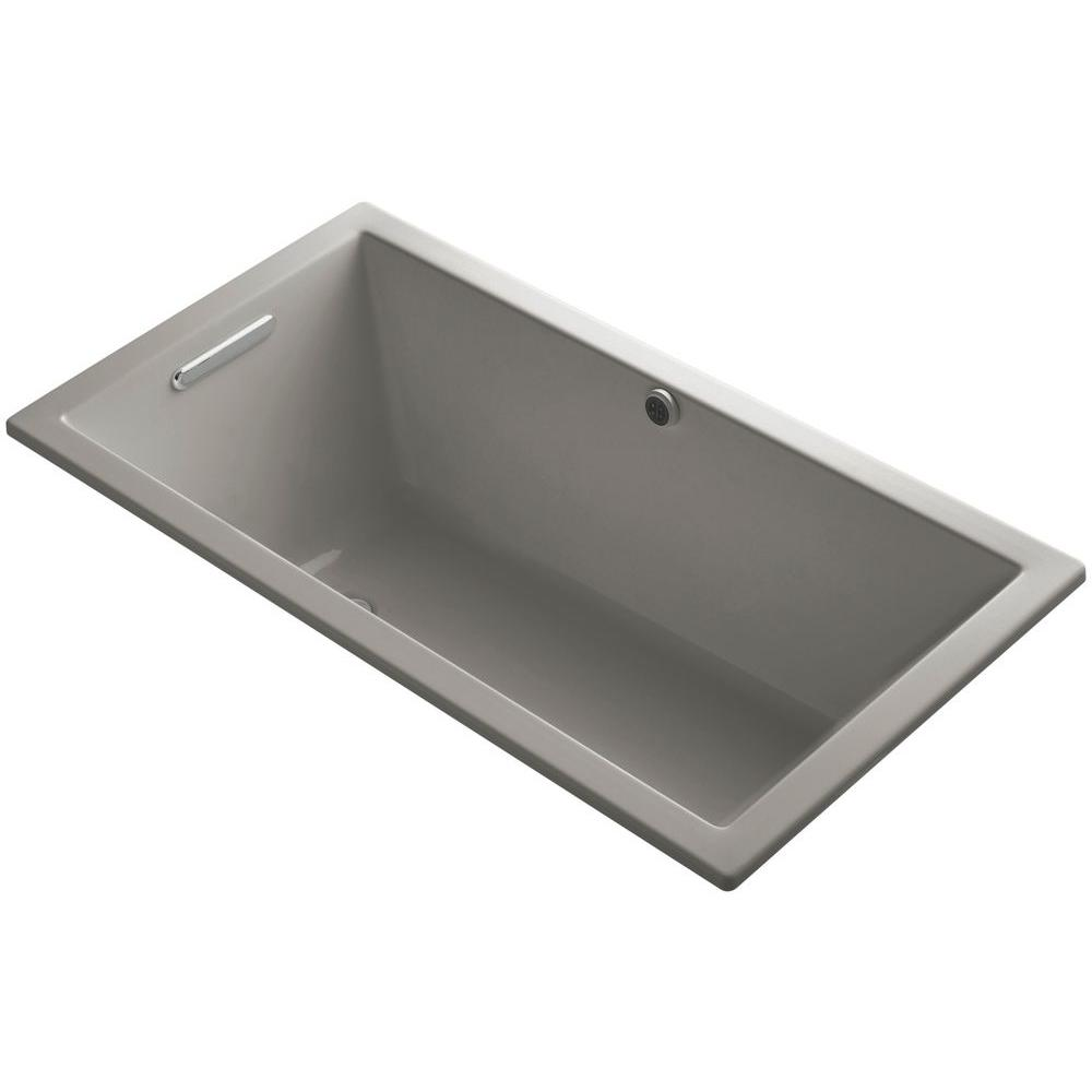 KOHLER Underscore 5 ft. Reversible Drain Soaking Tub in Cashmere with