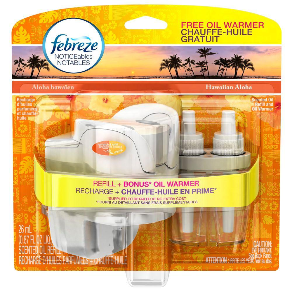 Febreze Noticeables 0.879 oz. Hawaiian Aloha Dual Scented Oil Refill with