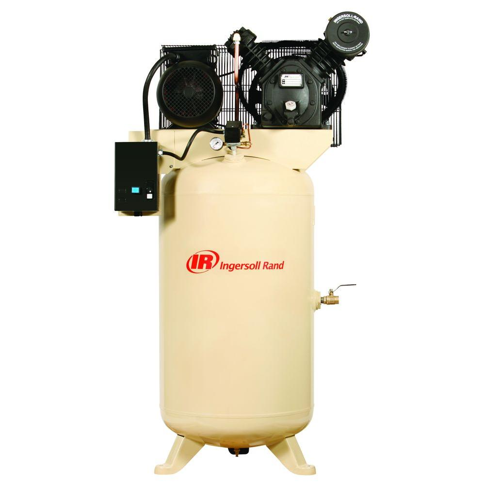 Ingersoll Rand Type 30 Reciprocating 80 Gal. 5 HP Electric 230-Volt 3 Phase Air Compressor