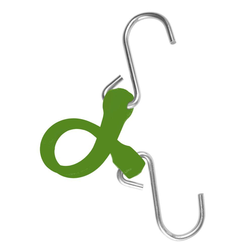 The Perfect Bungee 7 in. EZ-Stretch Polyurethane Bungee Strap with Stainless Steel S-Hooks (Overall Length: 12 in.) in Green-DISCONTINUED