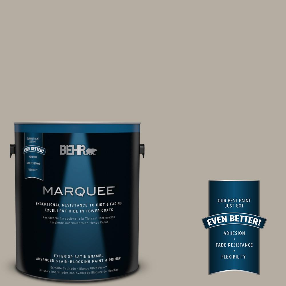 BEHR MARQUEE 1-gal. #PPU18-13 Perfect Taupe Satin Enamel Exterior Paint