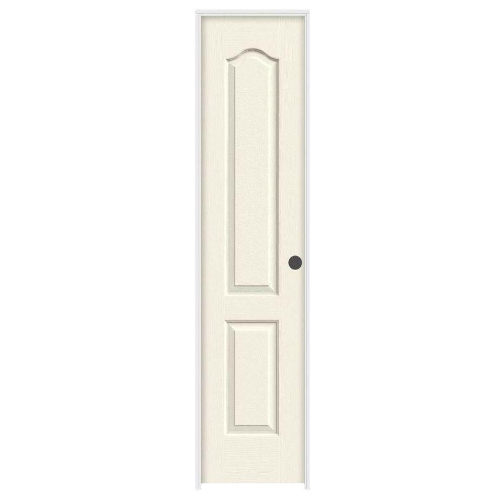 JELD-WEN 18 in. x 80 in. Molded Smooth 2-Panel Eyebrow French Vanilla Hollow Core Composite Single Prehung Interior Door