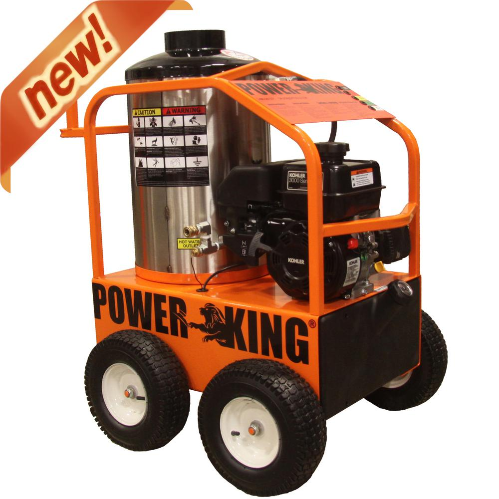 2,700-PSI 3 GPM Gasoline Powered Commercial Hot Water Pressure Washer,
