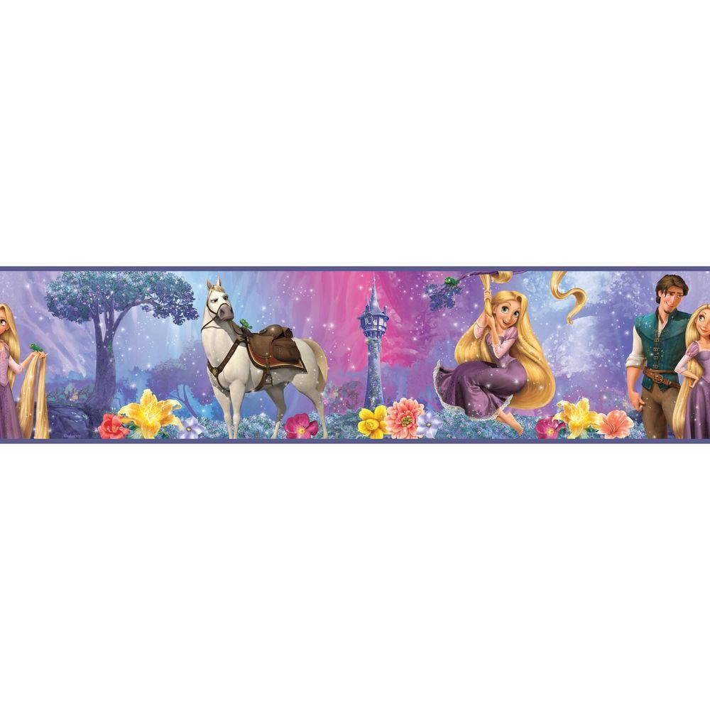 RoomMates 5 in. x 9.25 in. Rapunzel Peel and Stick Border (1-Piece)