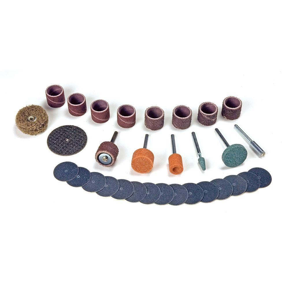 Rotary Tool Sanding/Grinding Accessory Set (31-Piece)