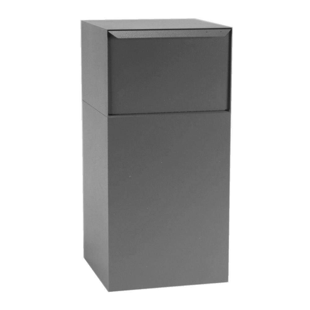 dVault Locking Mailboxes Curbside Mail and Package Delivery Vault in Gray