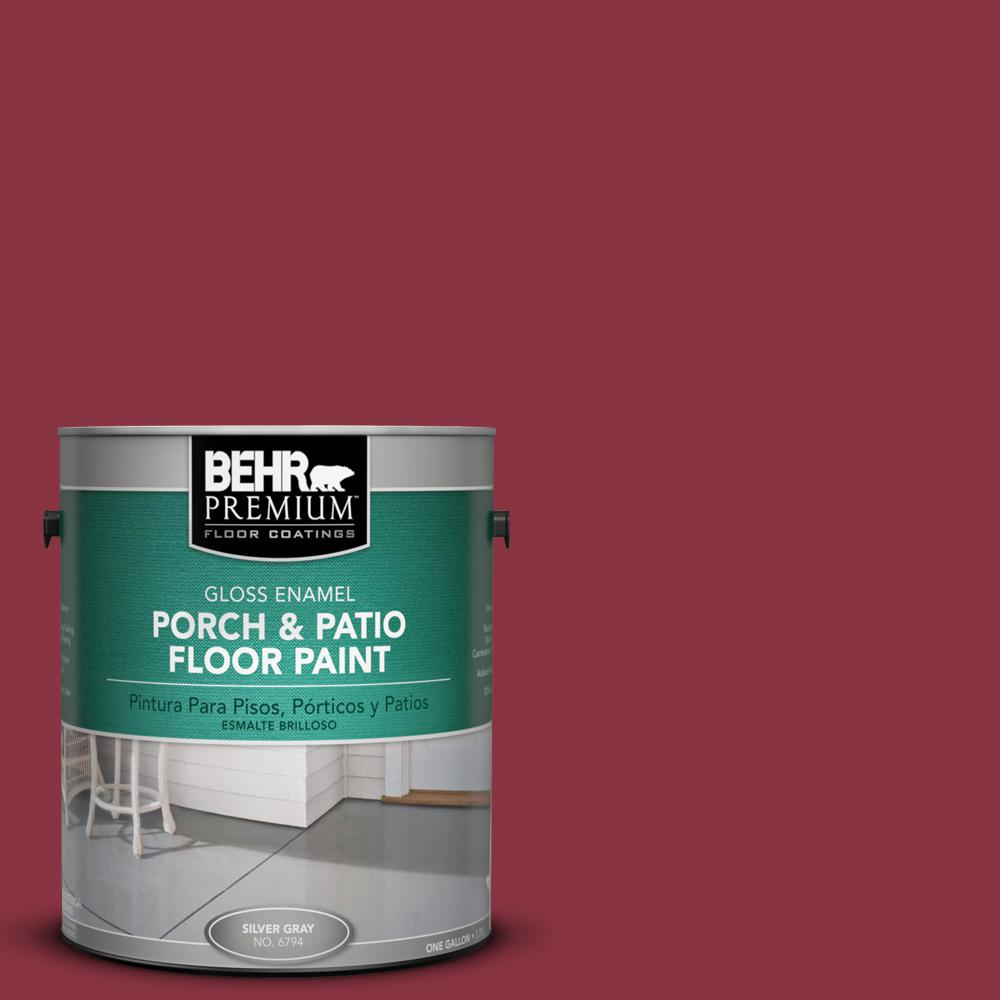 1 gal. #PPU1-10 Forbidden Red Gloss Porch and Patio Floor Paint
