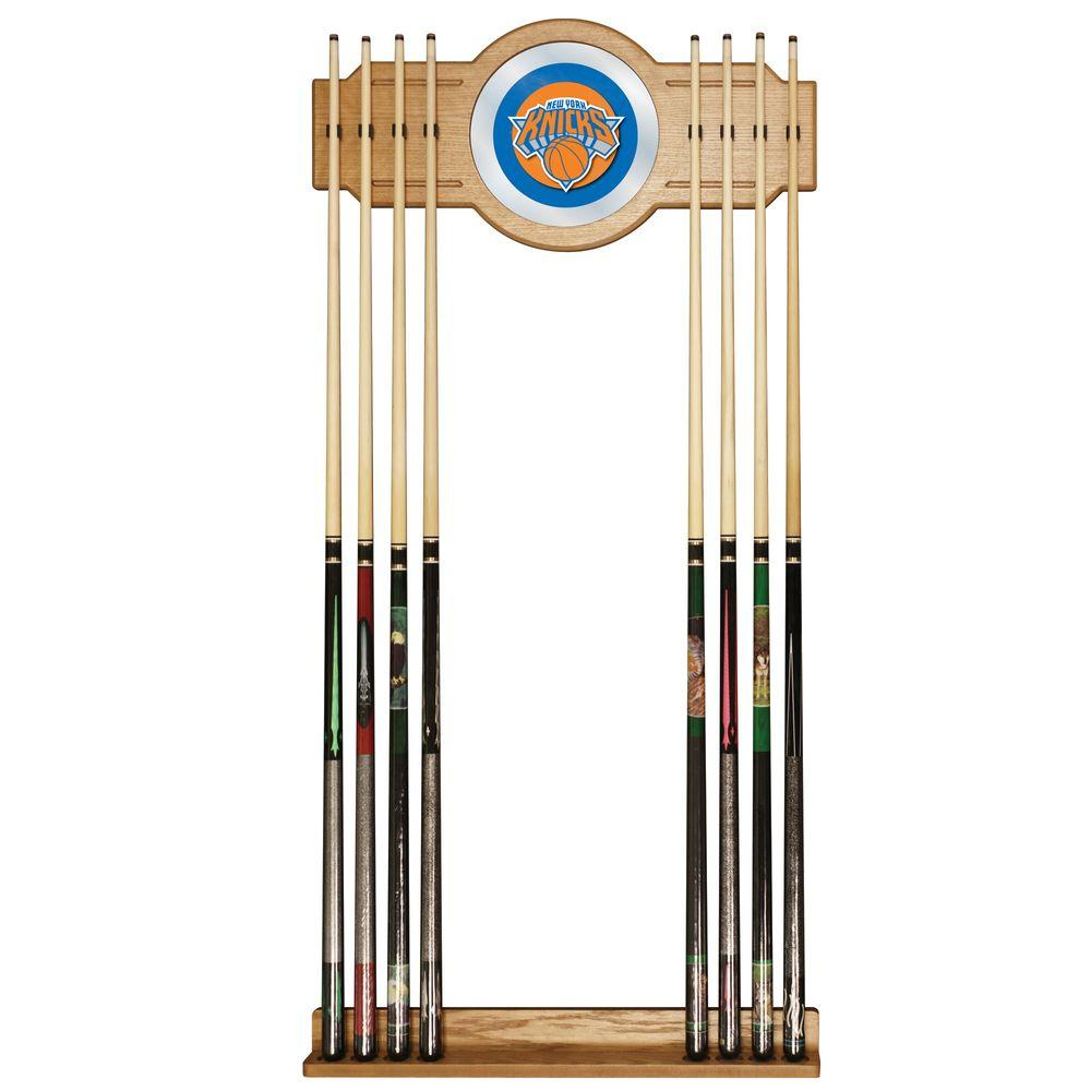 New York Knicks NBA 30 in. Wooden Billiard Cue Rack with