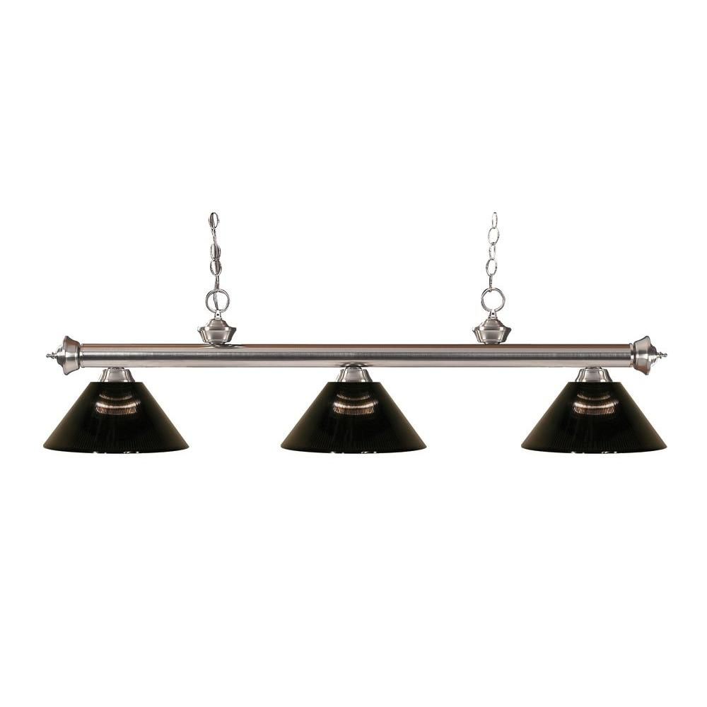 Filament Design Lawrence 3-Light Brushed Nickel Island Light-CLI-JB-43174 - The