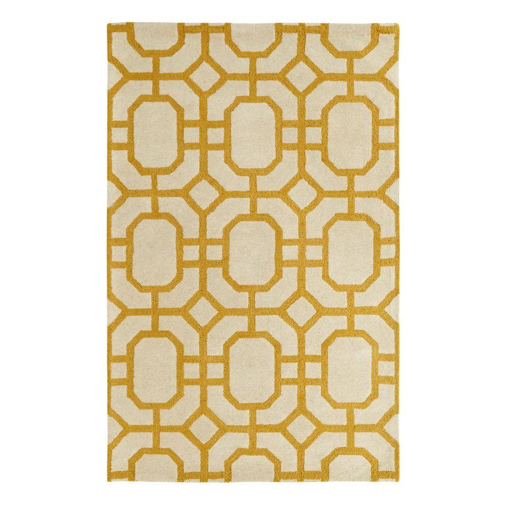 Dynamic Rugs Palace Yellow/Ivory 2 ft. x 4 ft. Indoor Area