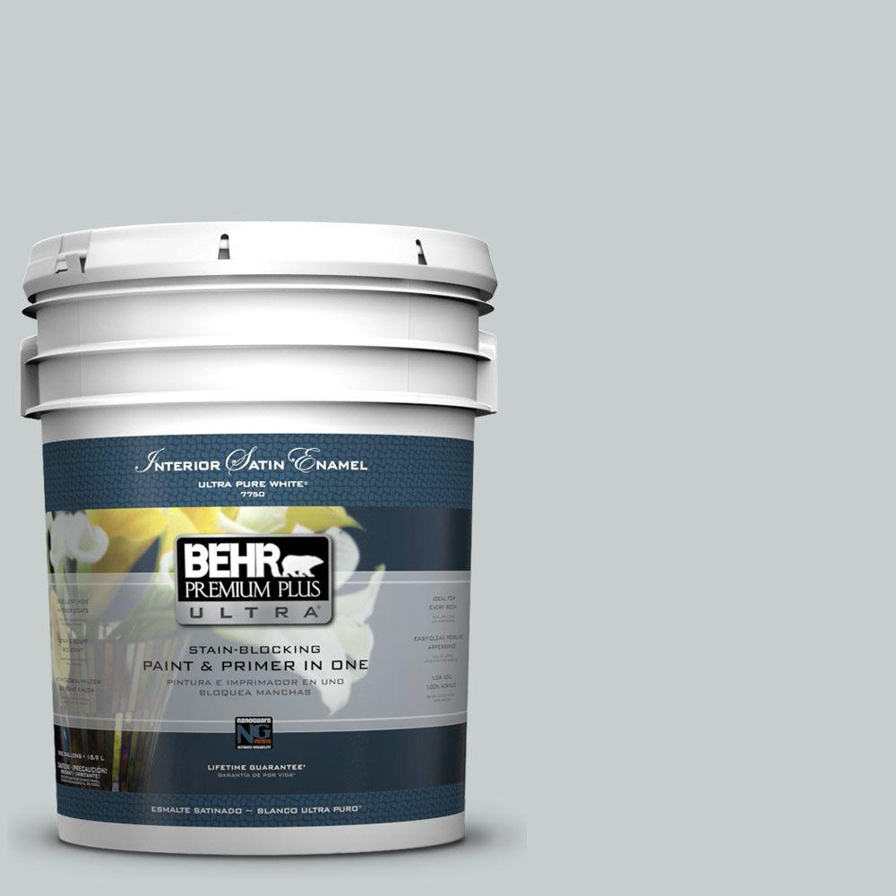 BEHR Premium Plus Ultra 5-gal. #720E-2 Light French Gray Satin Enamel Interior Paint