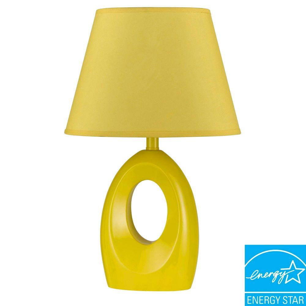 CAL Lighting 17 in. Yellow Resin Children's Accent Lamp-DISCONTINUED