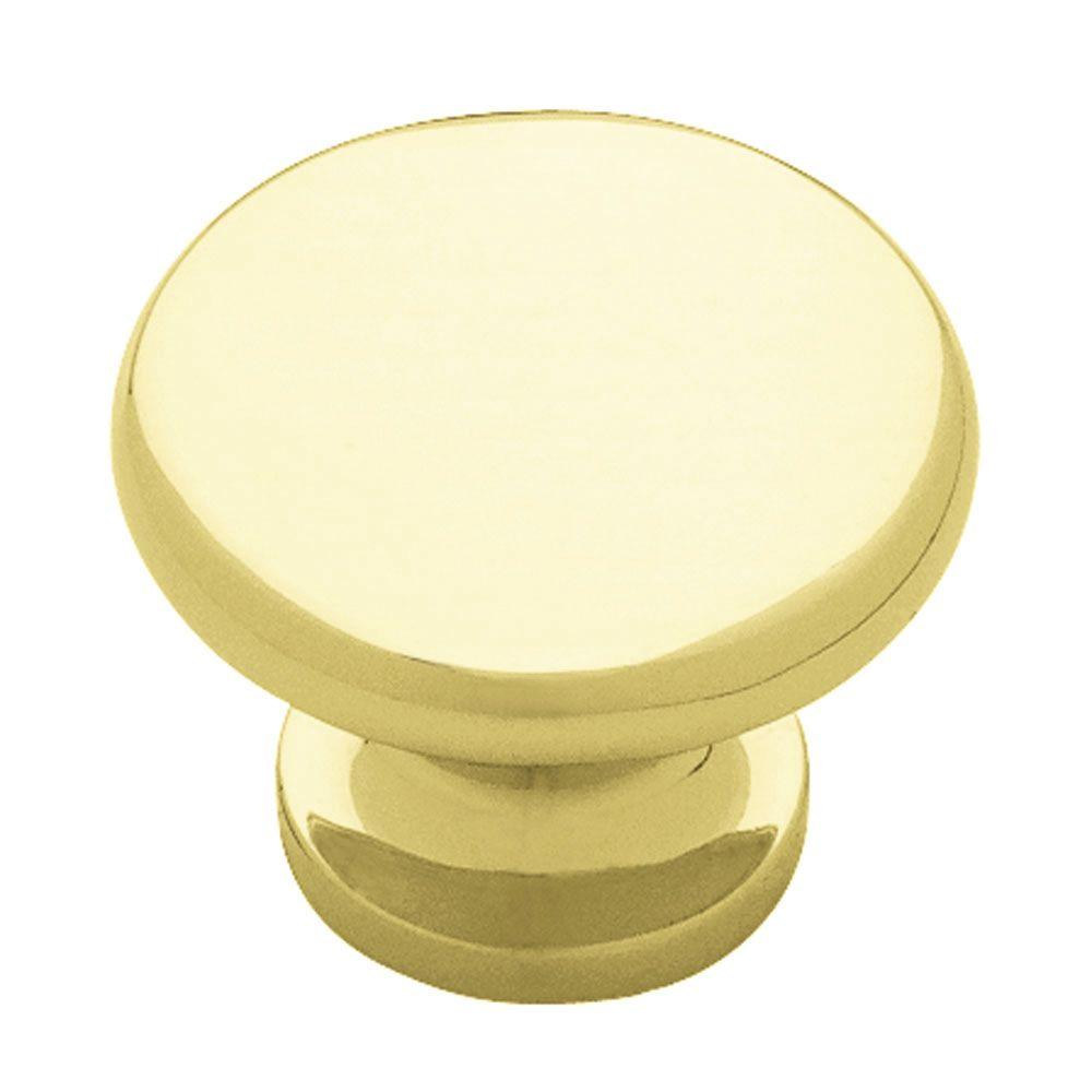 Liberty 1-3/16 in. Polished Brass Cabinet Knob-DISCONTINUED