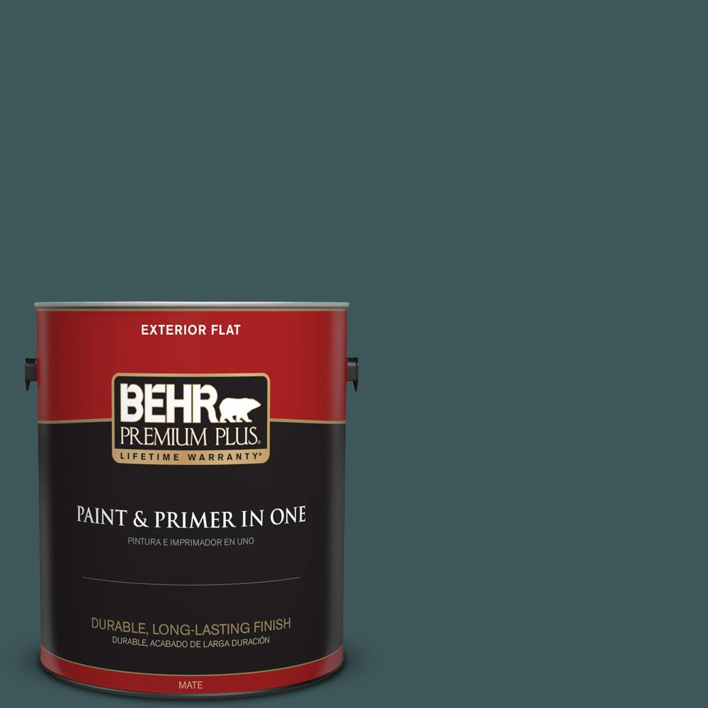 1 gal. #PPU12-01 Abysse Flat Exterior Paint