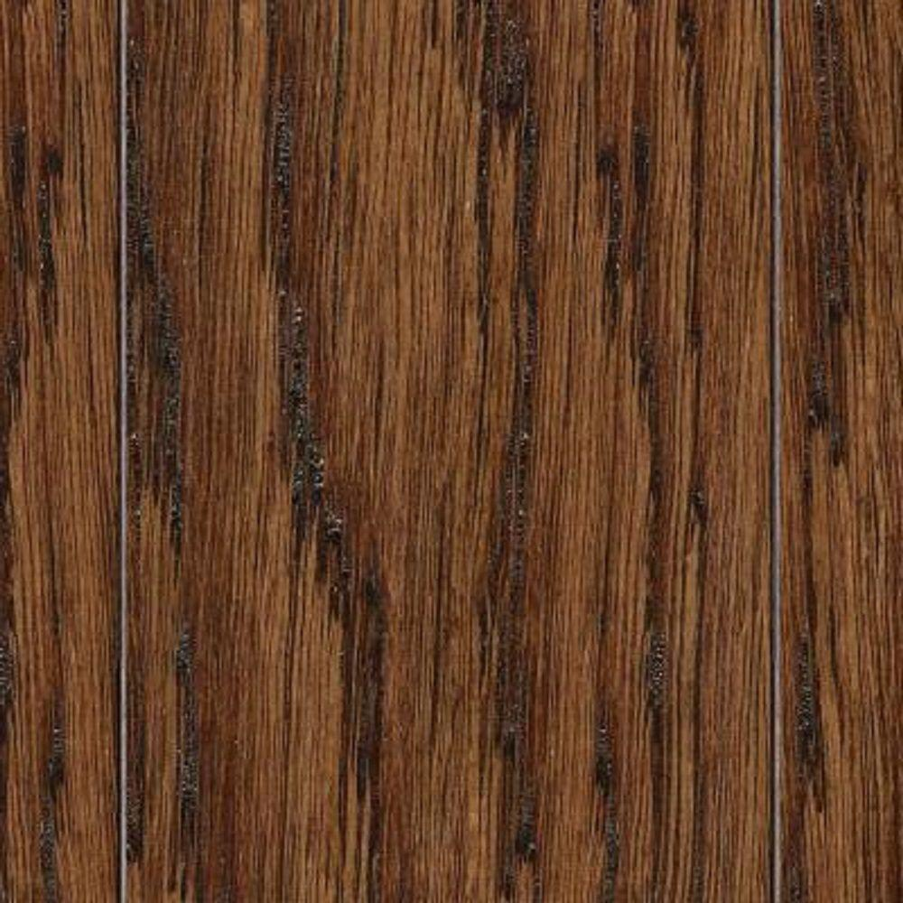 null Take Home Sample - Hand Scraped Distressed Mixed Width Montecito Oak Click Lock Hardwood Flooring - 5 in. x 7 in.