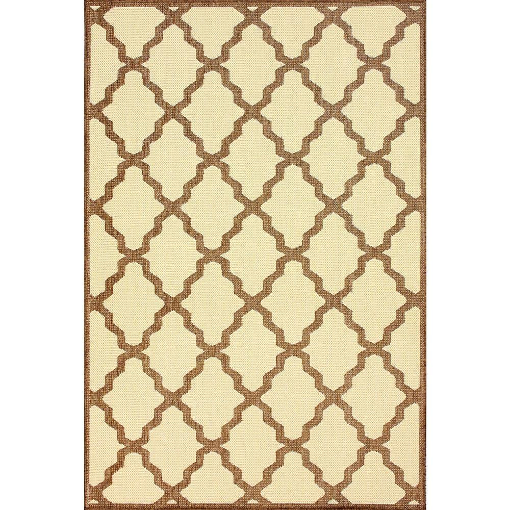 Gina Moroccan Trellis Tawny 5 ft. 3 in. x 7 ft. 6 in. Outdoor Area Rug