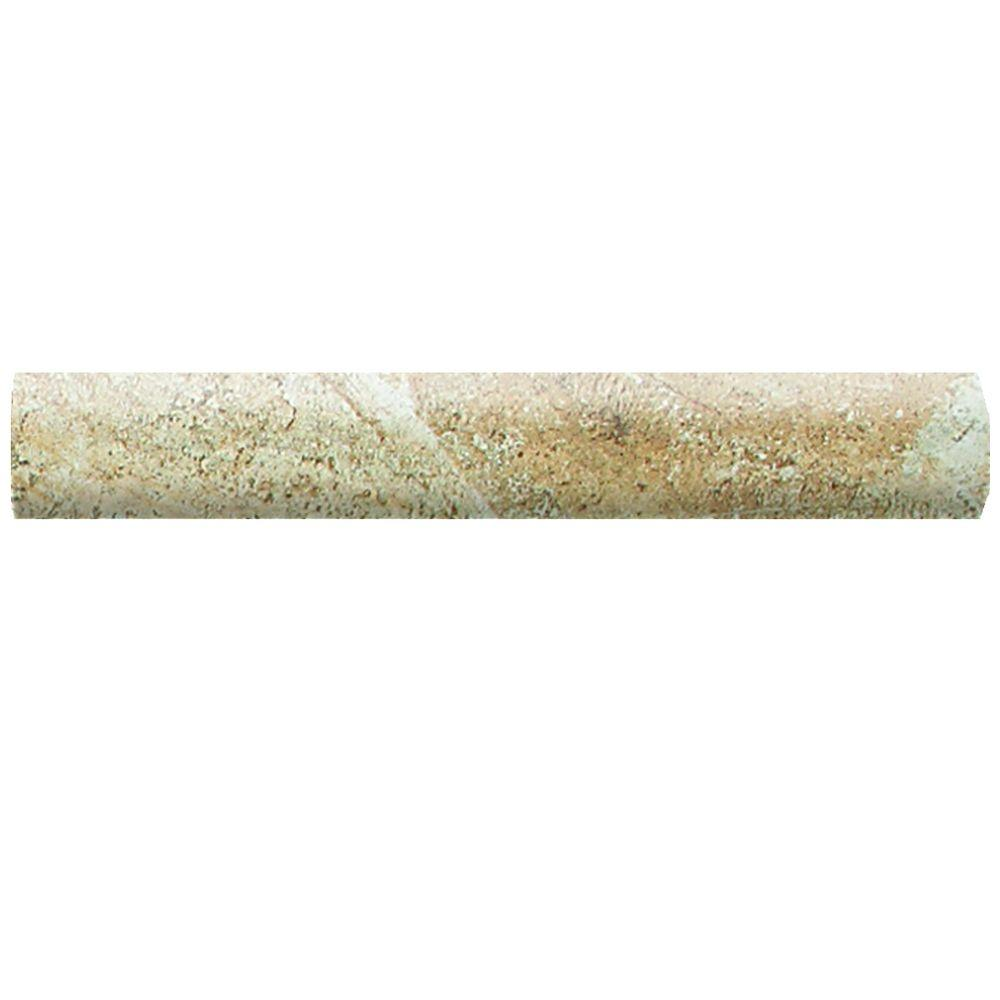 Folkstone Slate Sandy Beach 1 in. x 6 in. Ceramic Quarter