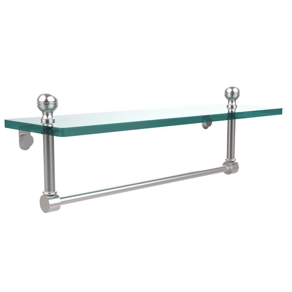 Allied Brass Mambo 16 in. W Glass Vanity Shelf with Integrated