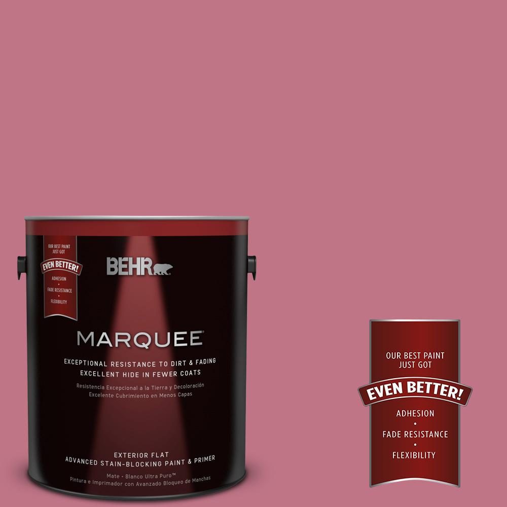 BEHR MARQUEE 1-gal. #110D-4 Rosily Flat Exterior Paint-445301 - The Home