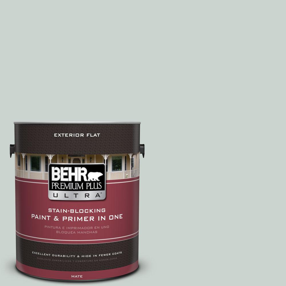 BEHR Premium Plus Ultra 1-gal. #460E-2 Valley Mist Flat Exterior Paint