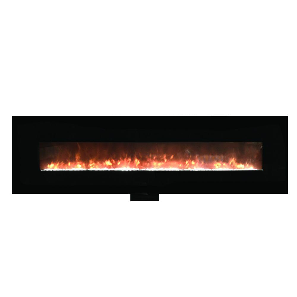 Yosemite Home Decor 95 In Wall Mount Electric Fireplace In Black Df Efp1313 Blt The Home Depot