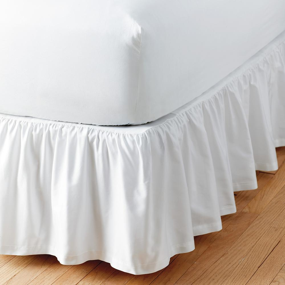 """Cal King Ivory Bed Skirt 14/"""" Drop Tailored Pleat"""