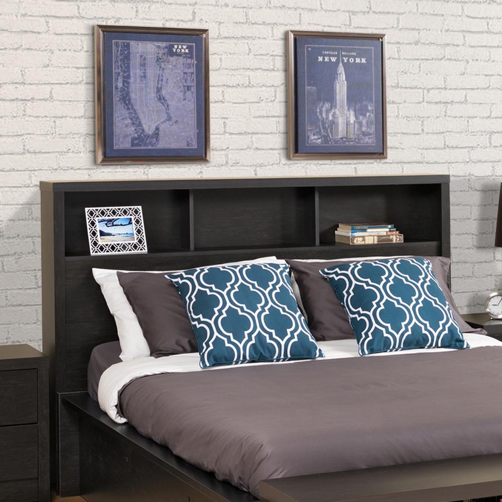 District Washed Black Double/Queen Headboard