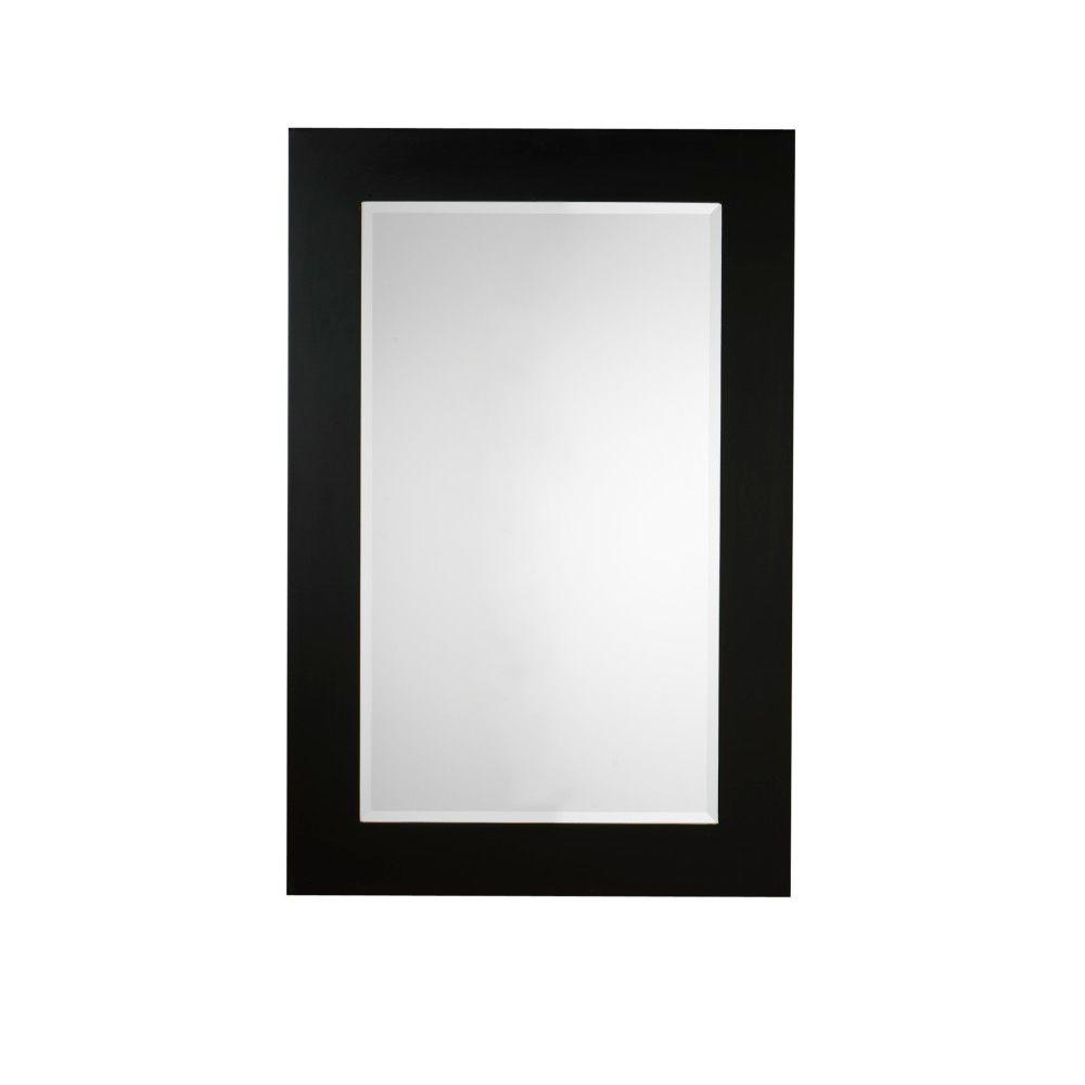 Home Decorators Collection Moderna 41 in. x 27 in. Framed Wall Mirror in Black
