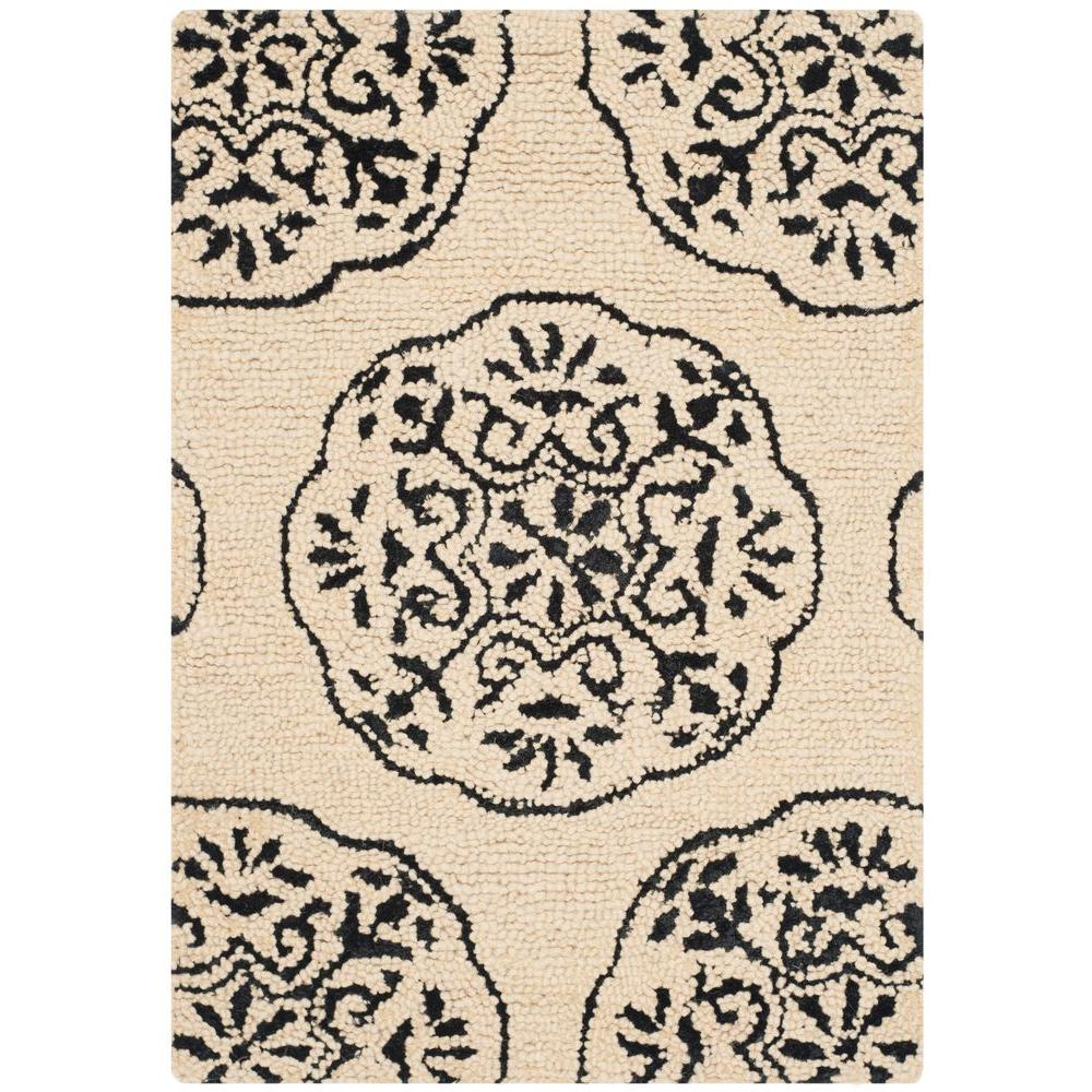 Safavieh Bella Ivory/Charcoal 2 ft. x 3 ft. Area Rug