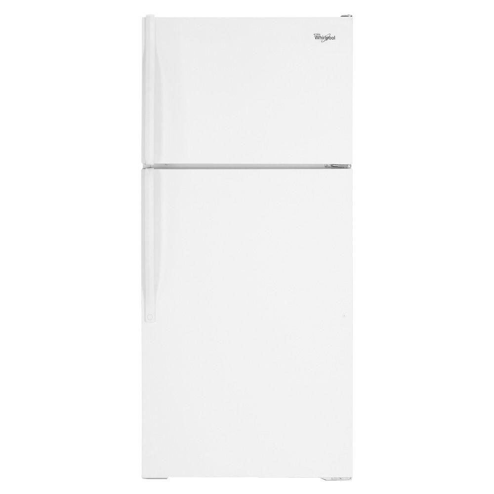 Whirlpool 17.6 cu. ft. Top Freezer Refrigerator in White