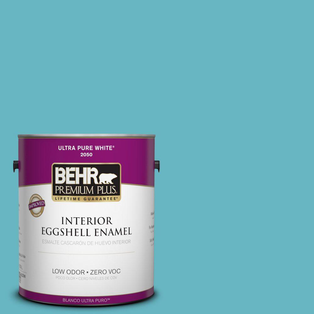 1-gal. #520D-5 Tropical Tide Zero VOC Eggshell Enamel Interior Paint