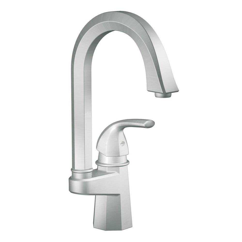 MOEN Felicity Single-Handle Bar Faucet in Classic Stainless