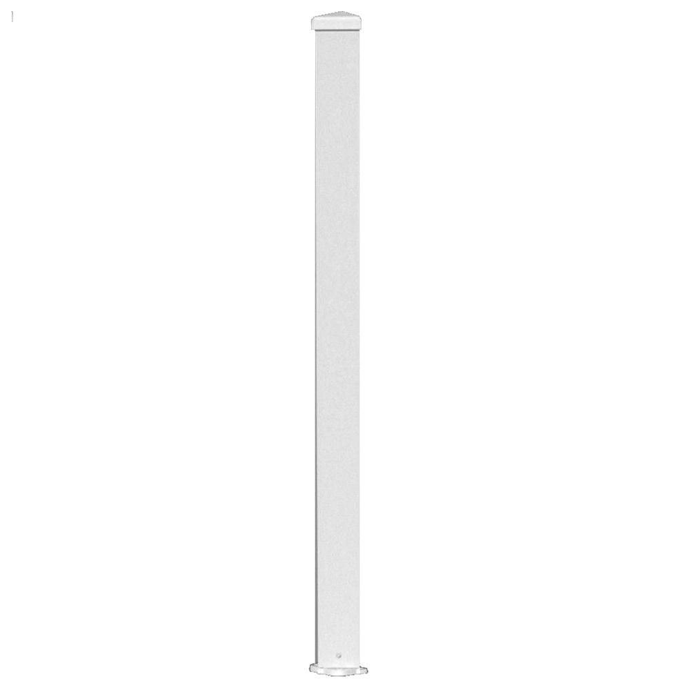 3 in. x 3 in. x 38 in. White Aluminum Post