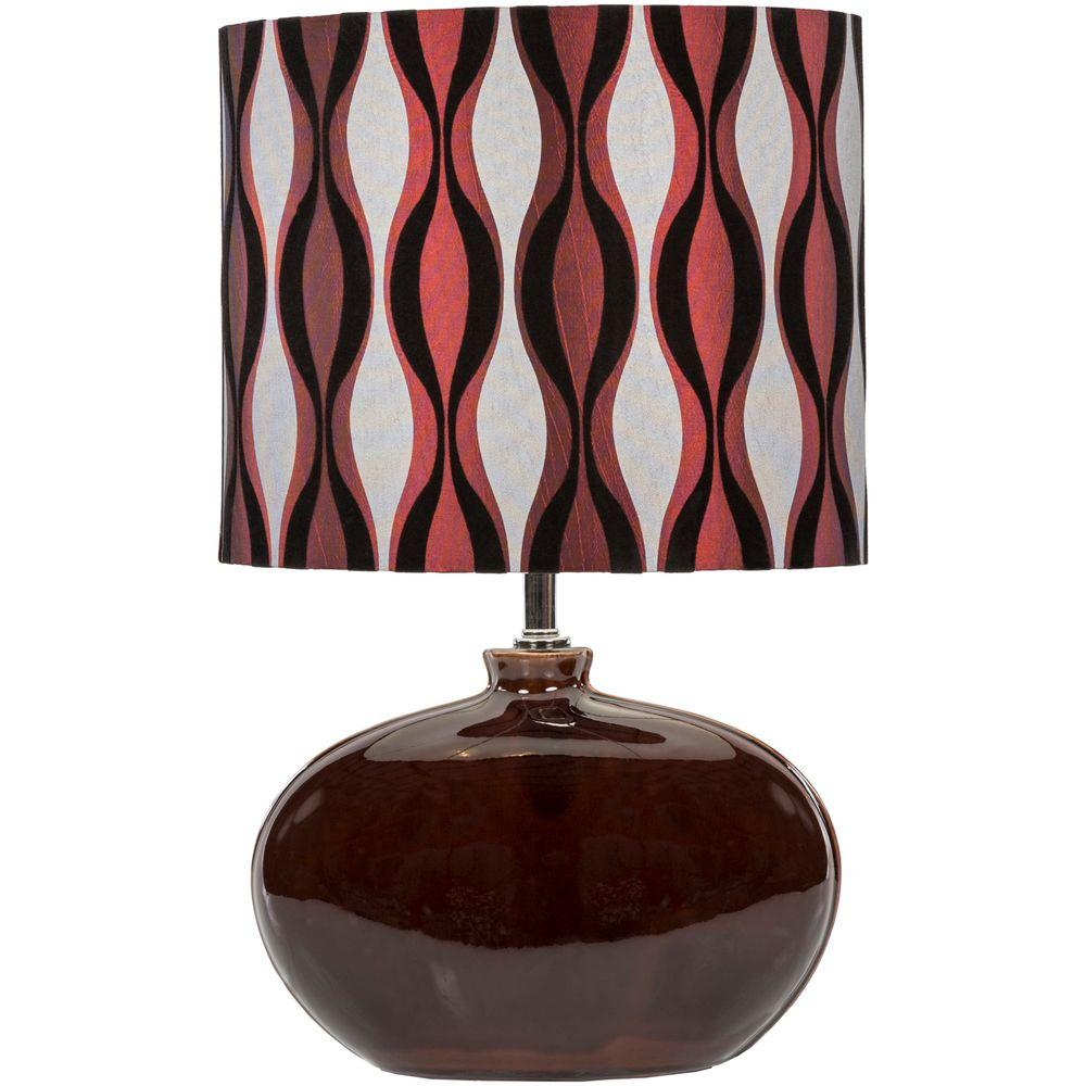 Wendell 19 in. Chocolate Indoor Table Lamp