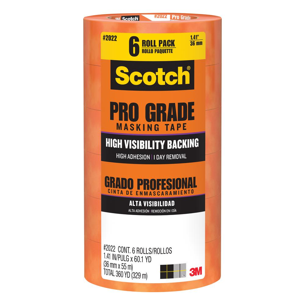 Scotch 1.41 in. x 60.1 yds. Pro Grade Masking Tape ((6-Pack)(Case