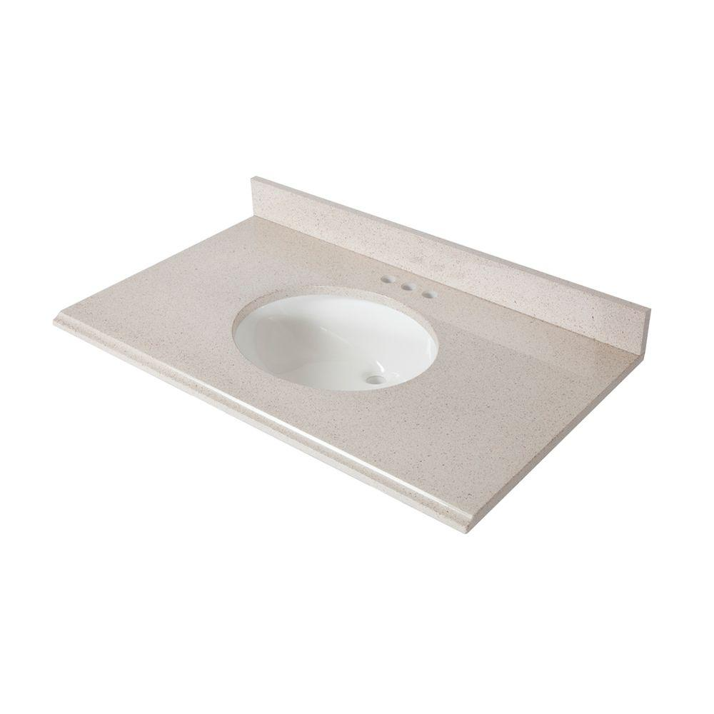 St. Paul 37 in. x 22 in. Colorpoint Vanity Top in Maui