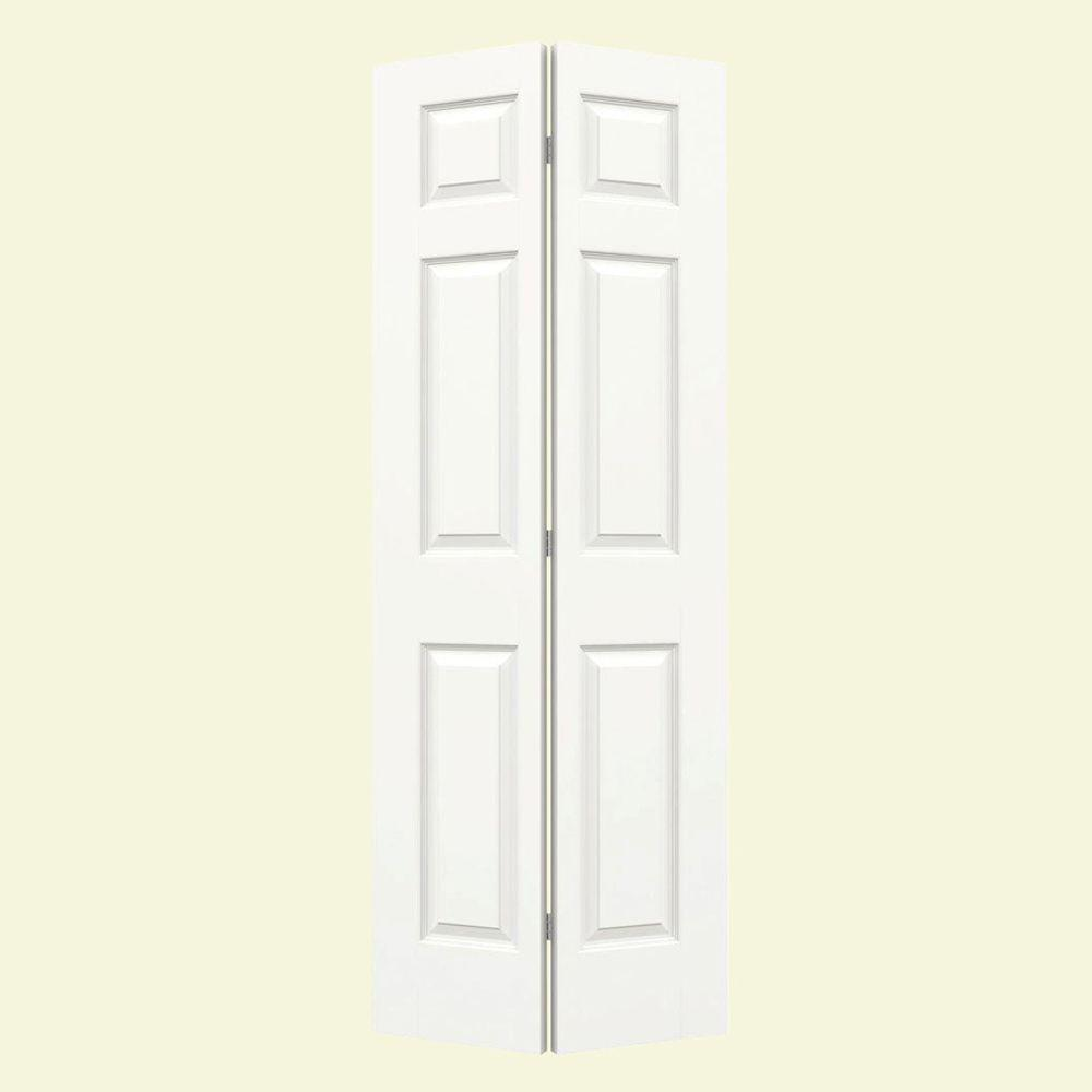JELD-WEN 24 in. x 80 in. Colonist White Painted Smooth Molded Composite MDF Closet Bi-fold Door