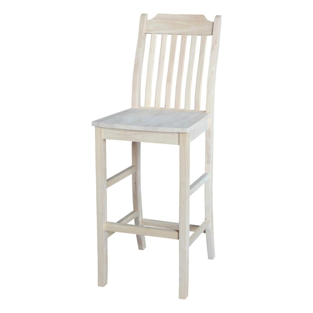 International concepts 30 in unfinished wood bar stool 265 30 the home depot Home depot wood bar stools