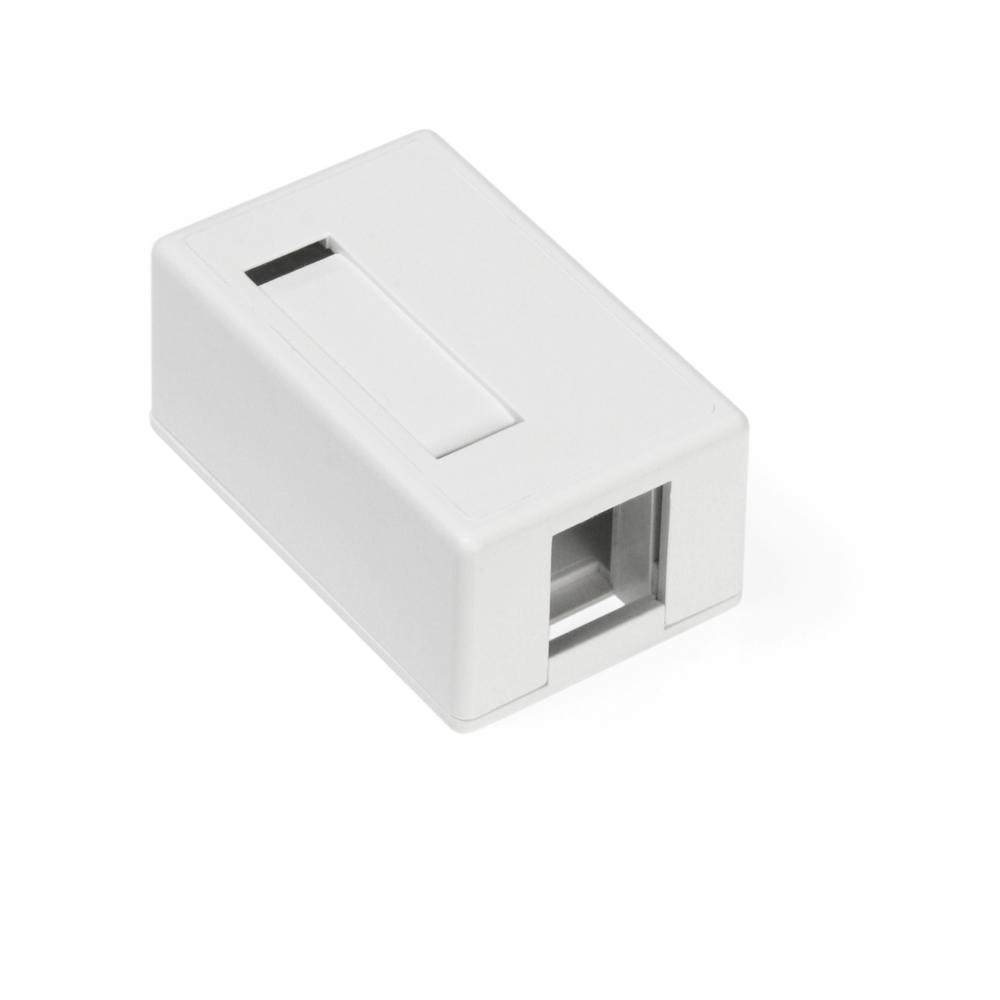 1-Port QuickPort Surface Mount Box, White