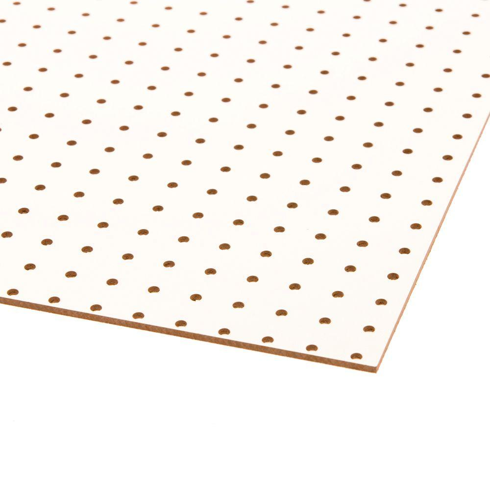 White Pegboard (Common: 3/16 in. x 2 ft. x 4 ft.;