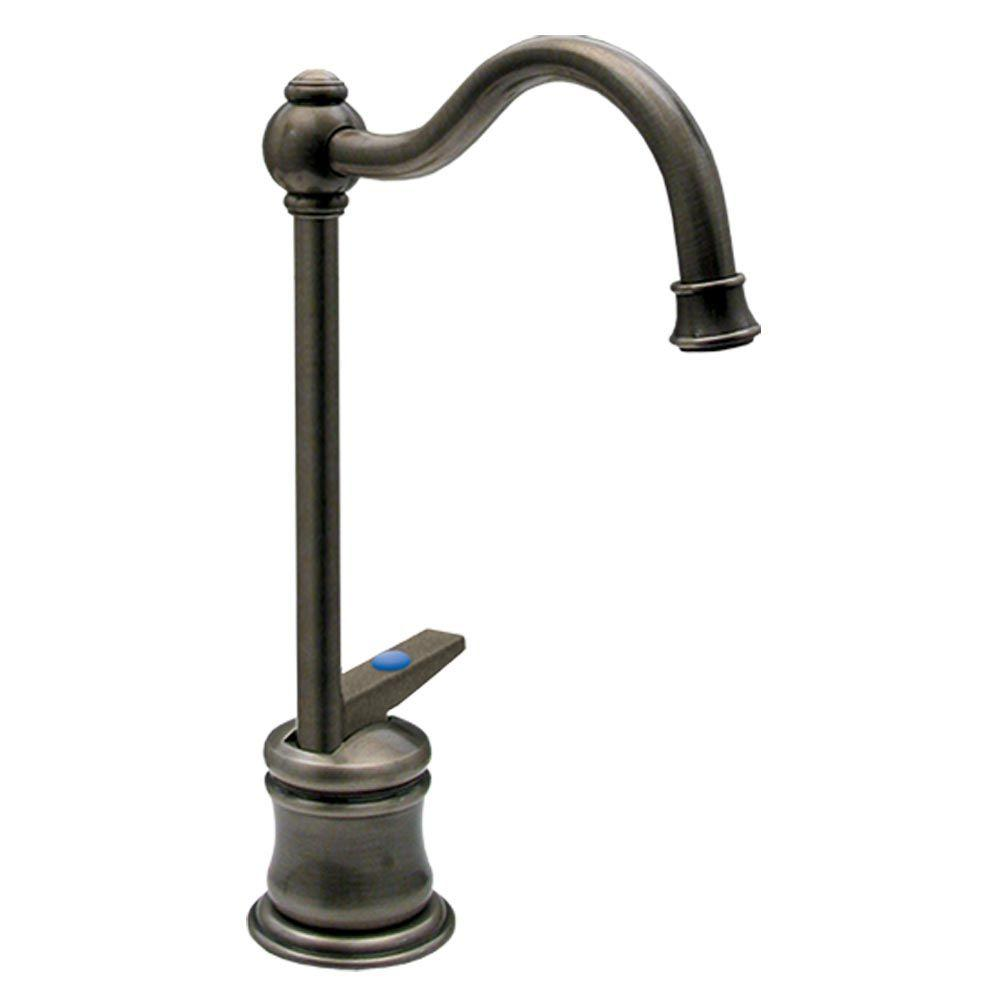 Whitehaus Collection Forever Hot 1-Handle Point of Use Instant Cold Water Dispenser Faucet in Pewter