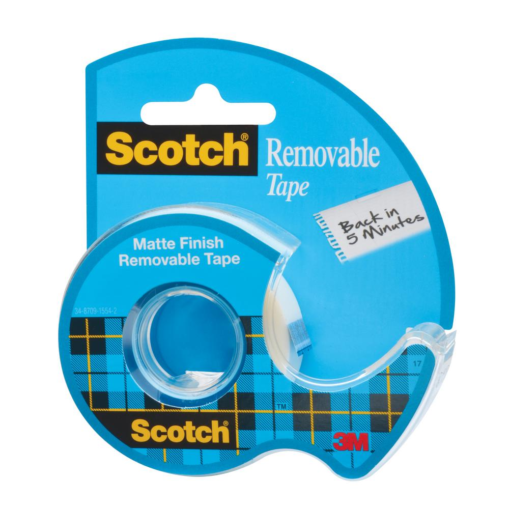 Scotch 3/4 in. x 18 yds. Removable Tape (Case of 48)