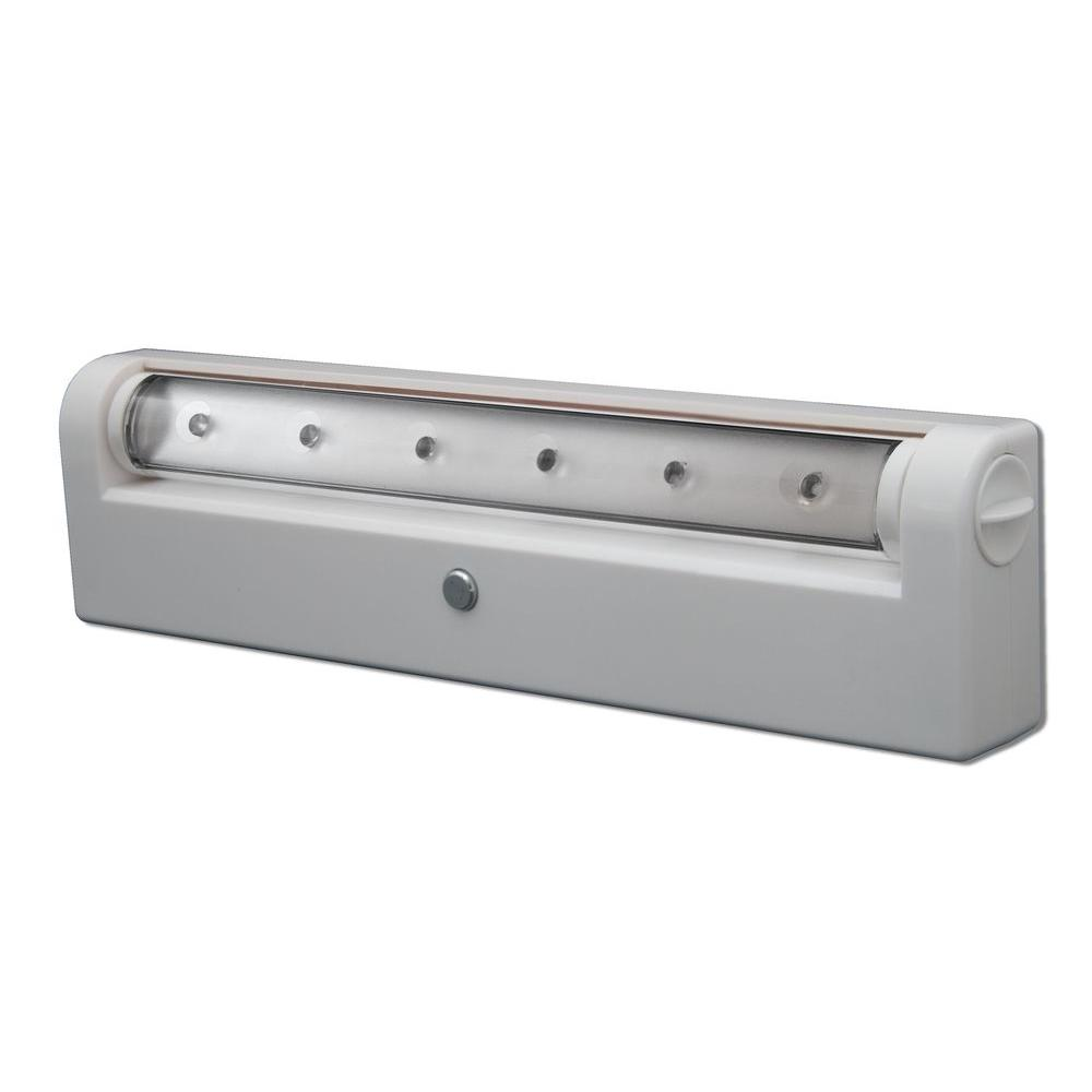 Rite Lite 6 LED Wireless Under Cabinet Light, White-DISCONTINUED