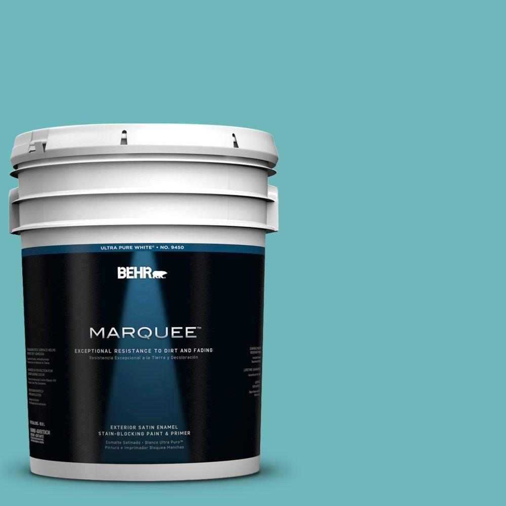 BEHR MARQUEE 5-gal. #510D-5 Surfer Satin Enamel Exterior Paint