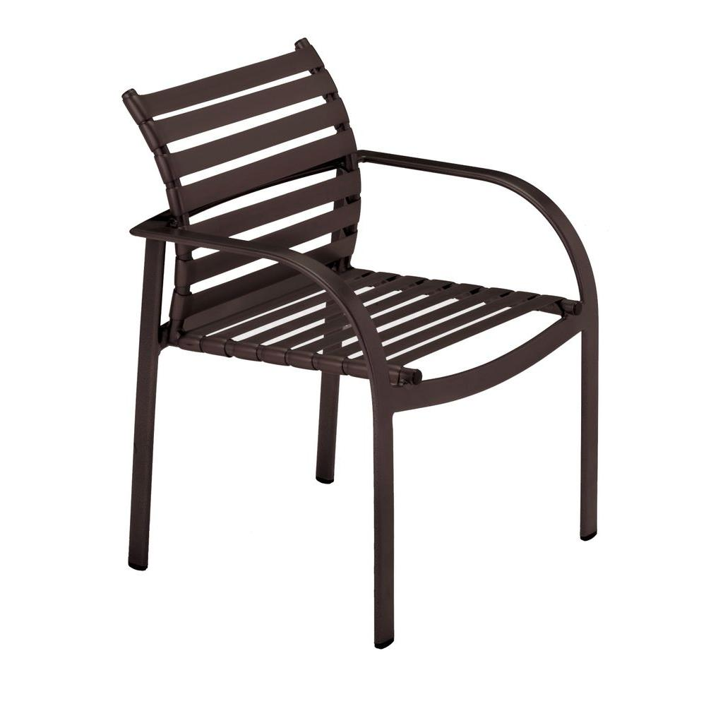 Tradewinds Scandia Java Commercial Strap Patio Dining Chair (2-Pack)