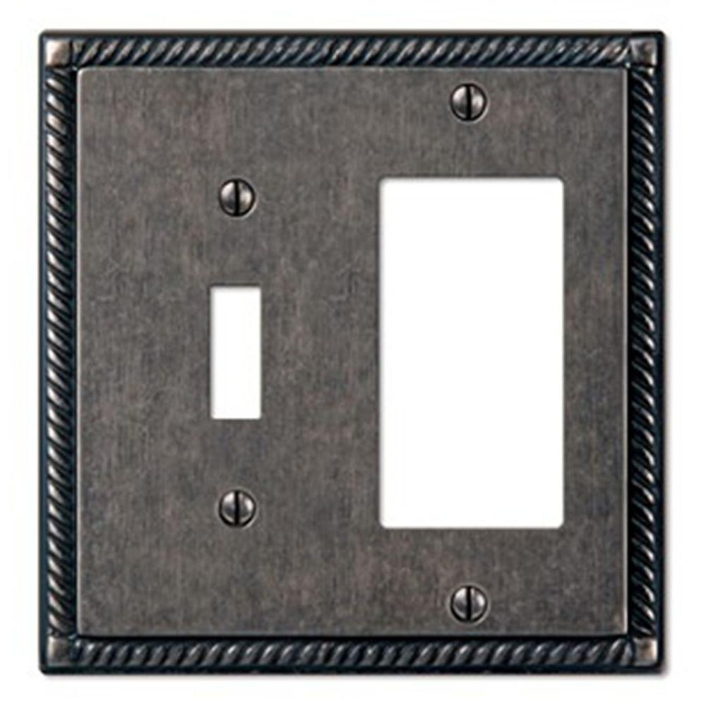 Creative Accents Tuscan 1 Toggle 1 Decora Wall Plate - Antique Pewter