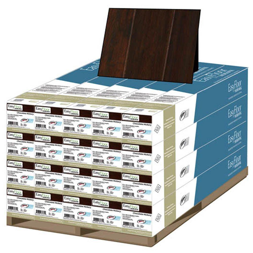 Mohawk Chocolate Hickory 3/8 in. T x 5 in. Wide x Random Length Soft Scraped Engineered Hardwood Flooring (470 sq.ft. / pallet)