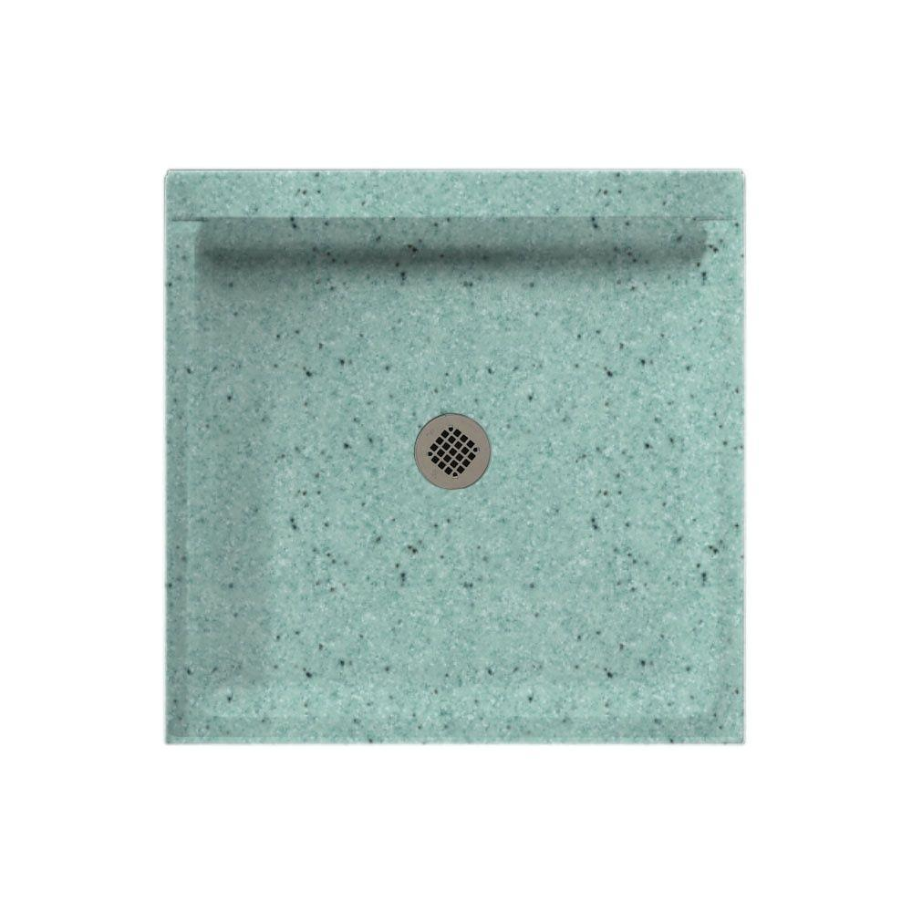 Swanstone 32 in. x 32 in. Single Threshold Shower Floor in Tahiti Evergreen-DISCONTINUED
